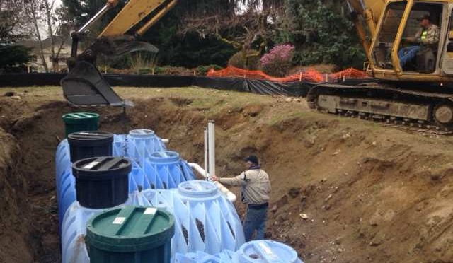 Swimming Pool Repurposed for Underground Rainwater Collection