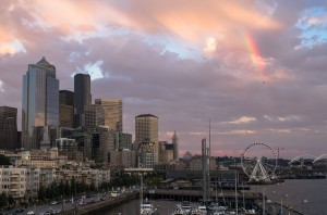Seattle Downtown After Rain