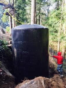 lowering underground tank