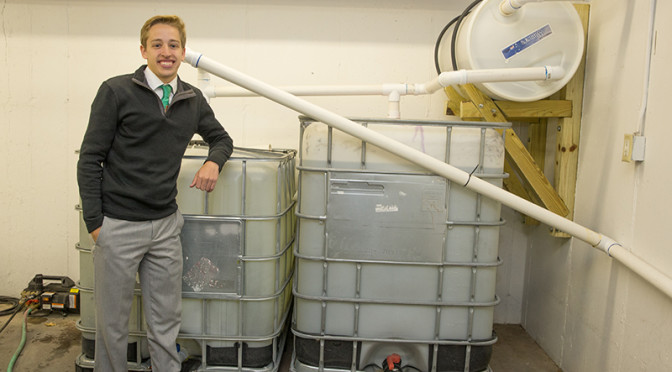 Students Design Rainwater Collection System & Save Money for Business