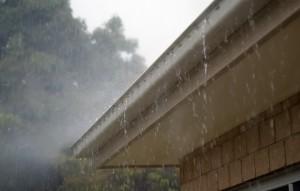 roof gutter rain