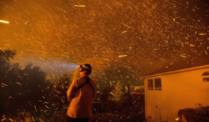 Image of an ember storm from the Washington State Wildfires this year from the Washington Times Website 2015